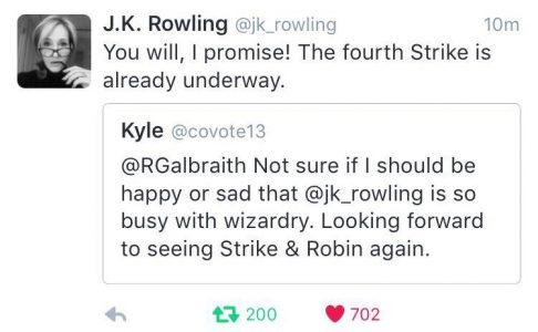 Rowling's twitte