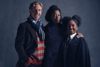 L-R, Paul Thornley as Ron, Noma Dumezweni as Hermione and Cherrelle Skeete as Rose